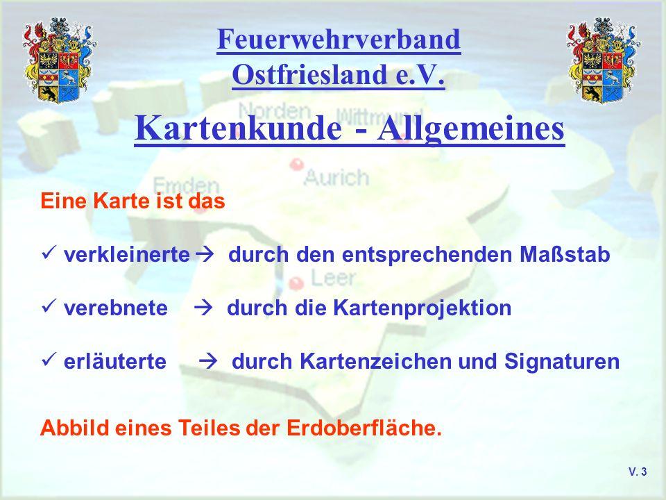 Feuerwehrverband Ostfriesland e.V. UTM-Projektion Zonenfelder V. 14