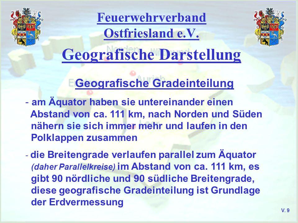 Feuerwehrverband Ostfriesland e.V. Geografische Darstellung Geografische Gradeinteilung V. 10