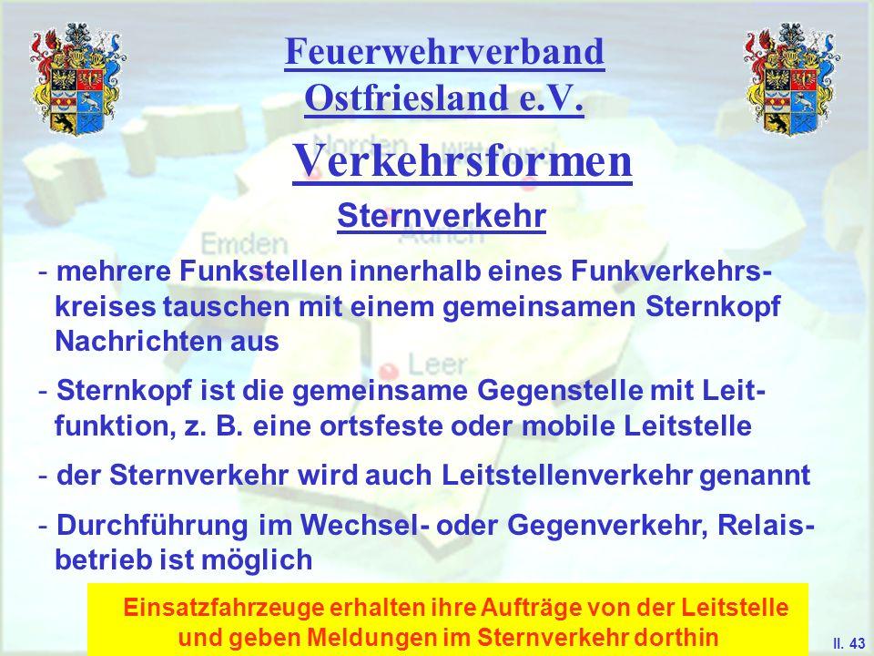 Feuerwehrverband Ostfriesland e.V. Verkehrsformen Sternverkehr II. 42