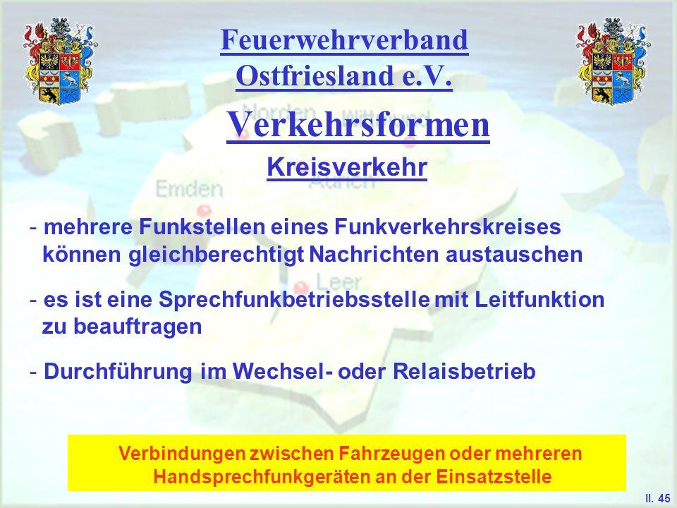 Feuerwehrverband Ostfriesland e.V. Verkehrsformen Kreisverkehr II. 44
