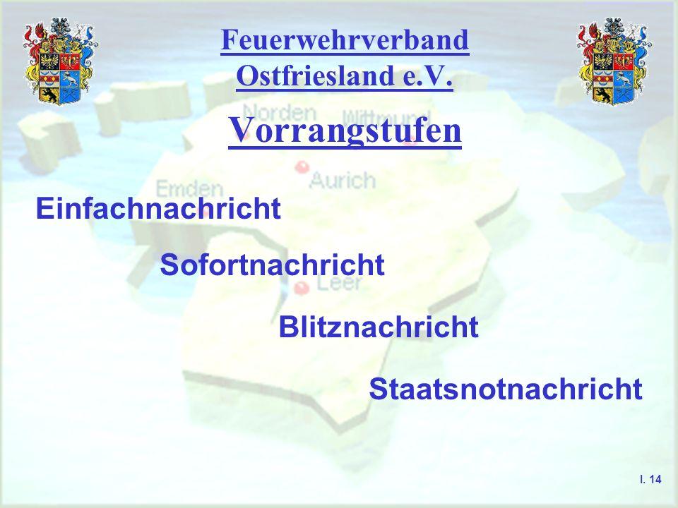 Feuerwehrverband Ostfriesland e.V. Voraussetzung zur Teilnahme am Sprechfunk I. 13 - Sprechfunkgeräte bedürfen einer Einzel- genehmigung - es finden i