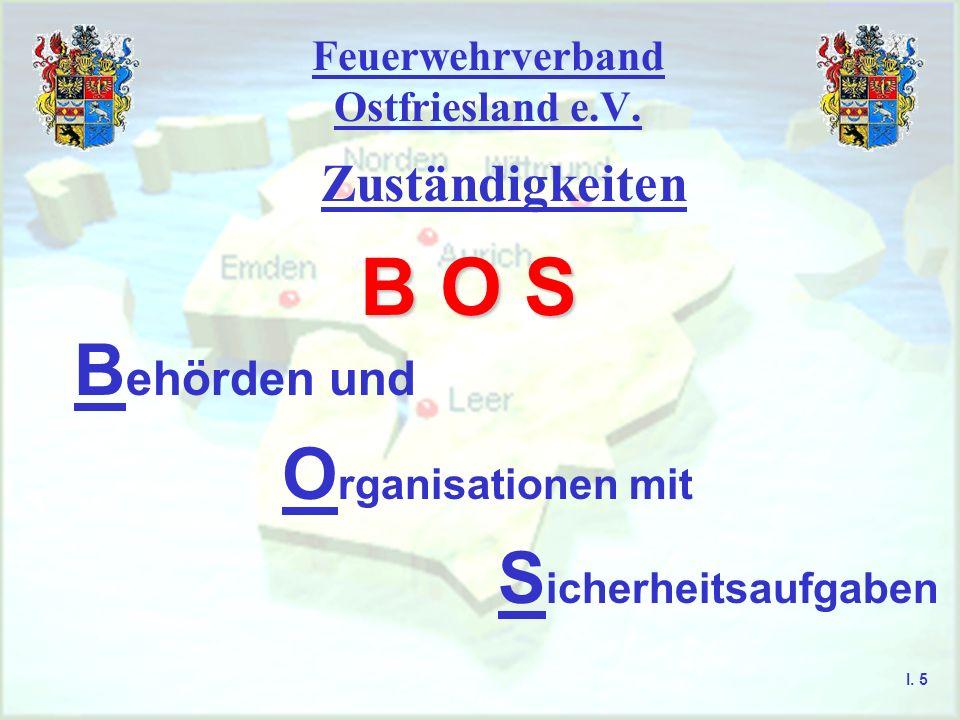 Feuerwehrverband Ostfriesland e.V. Zuständigkeiten I. 4 Regulierungsbehörde für Telekommunikation und Post (RegTP) Bundesminister des Innern Nachbar-