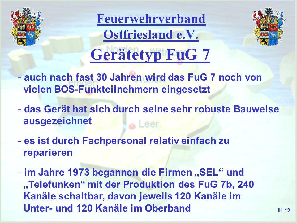 Feuerwehrverband Ostfriesland e.V. Zugelassene Gerätetypen 2m ( FuG 9 wird nicht mehr hergestellt ) FuG 9b 92 Kanäle, Gegenverkehr möglich FuG 9c Rela