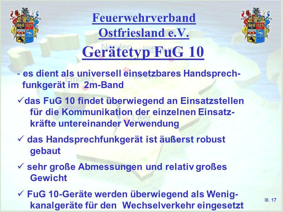 Feuerwehrverband Ostfriesland e.V. Gerätetyp FuG 9 LautsprecherRuftaste I Sendeanzeige (grün) Empfangsanzeige (rot) Einschaltanzeige (gelb) Ruftaste I
