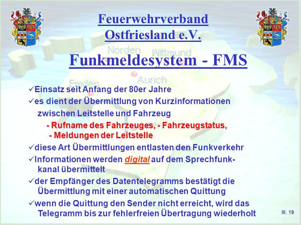 Feuerwehrverband Ostfriesland e.V. Gerätetyp FuG 10 Ein-/Ausschalter, Lautstärkeregler Lautsprecher Antenne Außenanschluss mit Blindstecker Rufton I u