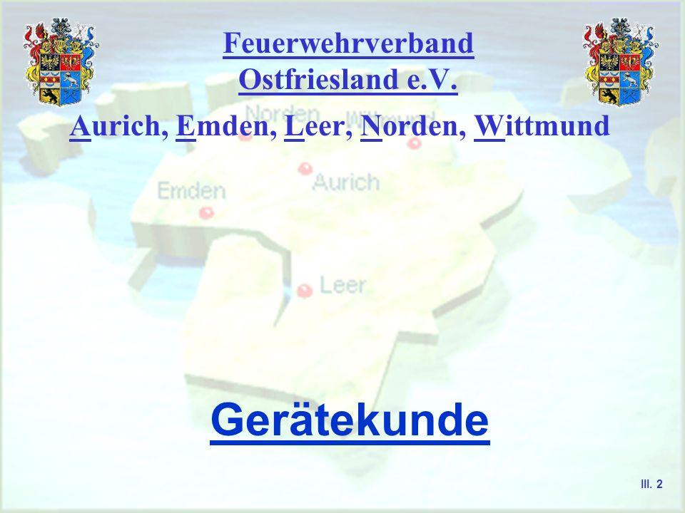 Feuerwehrverband Ostfriesland e.V. Aurich, Emden, Leer, Norden, Wittmund Sprechfunker - Ausbildung III. 1