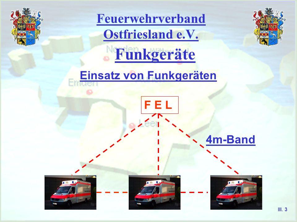 Feuerwehrverband Ostfriesland e.V. Aurich, Emden, Leer, Norden, Wittmund Gerätekunde III. 2