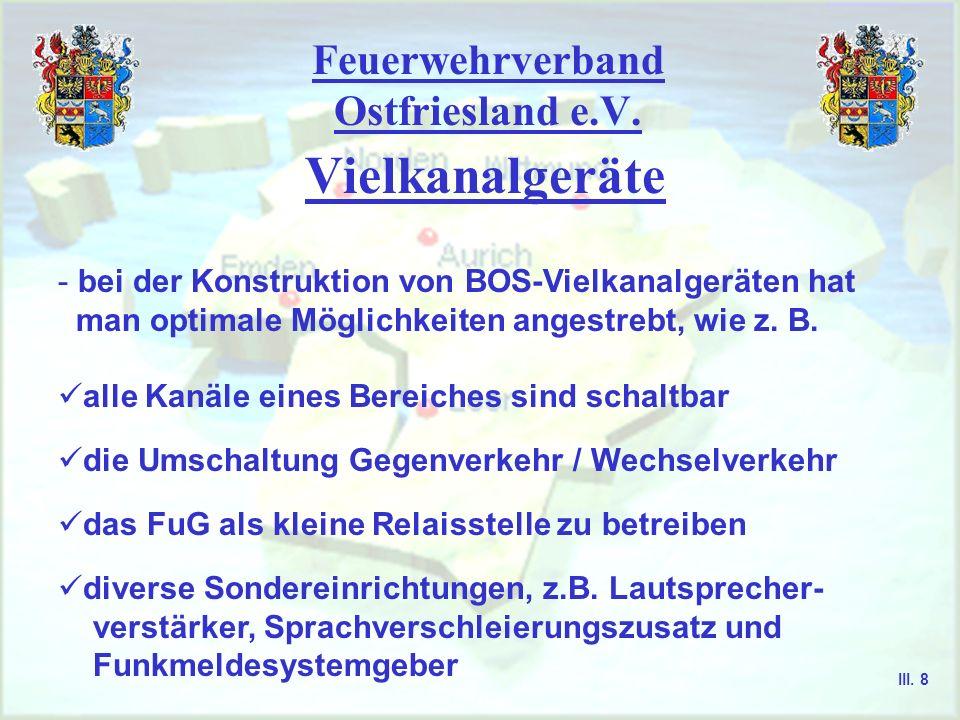 Feuerwehrverband Ostfriesland e.V. Wenigkanalgeräte - Wenigkanalgeräte sind mit einem bis maximal zehn Kanälen ausgestattet - HFG für Feuerwehren, Kat
