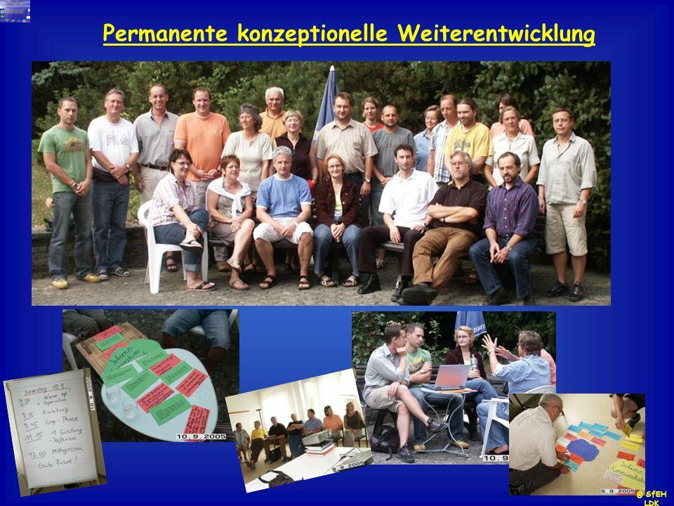 Permanente konzeptionelle Weiterentwicklung © SfEH LDK