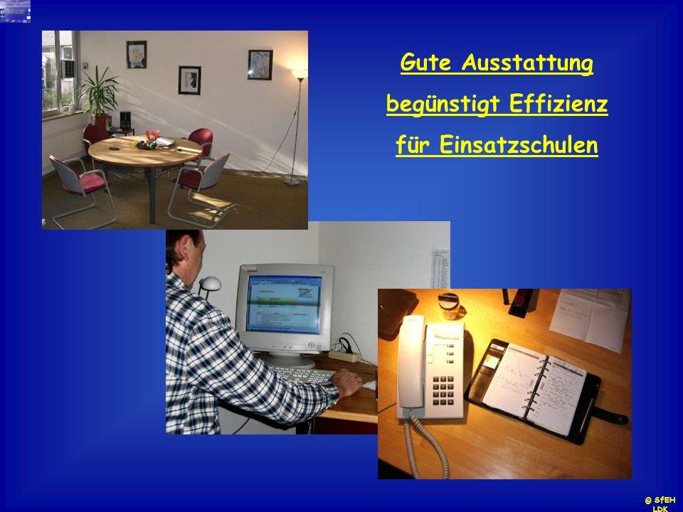 Gute Ausstattung begünstigt Effizienz für Einsatzschulen © SfEH LDK