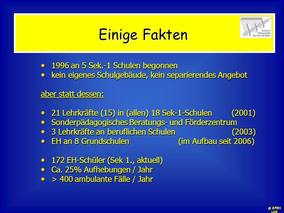 Unsere Grundsätze dezentrale Organisation integratives Prinzip (Inklusion ?) systembezogene Zuständigkeit präventive Ausrichtung kooperatives Selbstverständnis © SfEH LDK