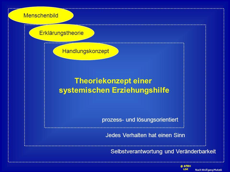 Nach Wolfgang Mutzek Theoriekonzept einer systemischen Erziehungshilfe Menschenbild Erklärungstheorie Handlungskonzept Selbstverantwortung und Verände