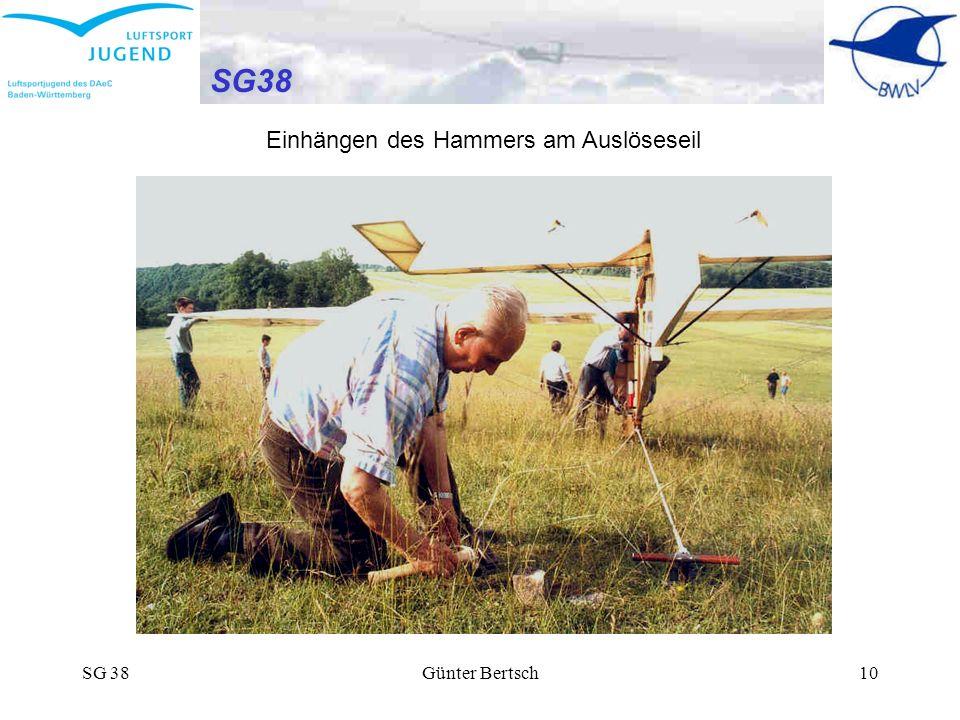 SG 38Günter Bertsch10 SG38 Einhängen des Hammers am Auslöseseil