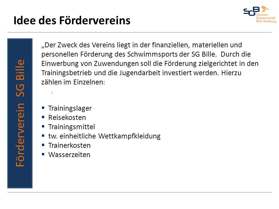 Unterstützung 2012 in Zahlen Förderverein SG Bille 1.100SG Bille / Bille Cup 2012 800WK Altwarmbüchen