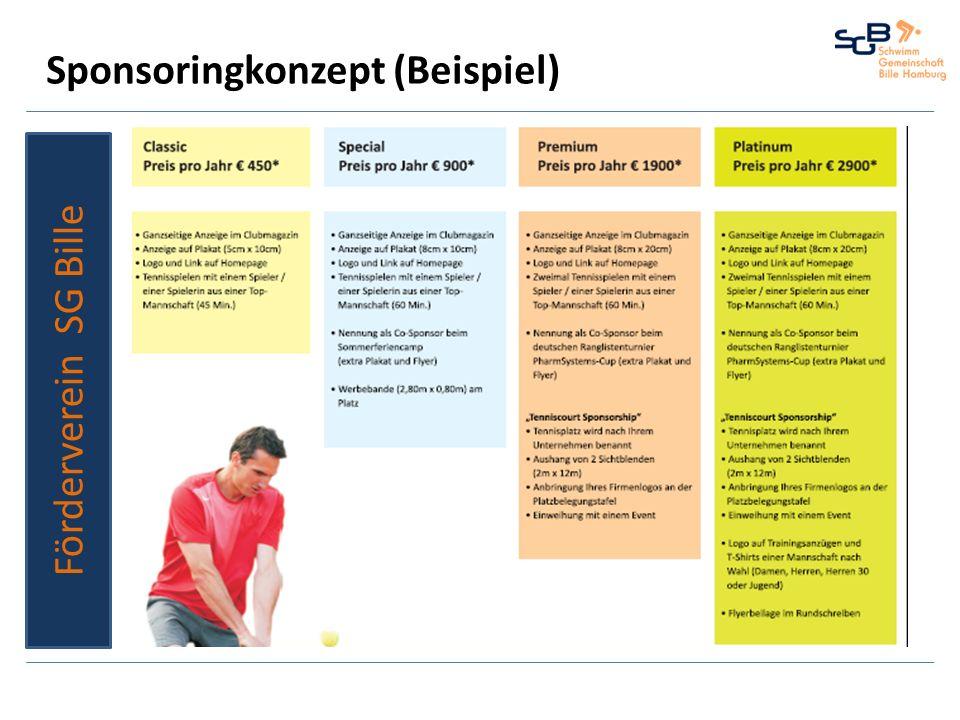 Sponsoringkonzept (Beispiel) Förderverein SG Bille