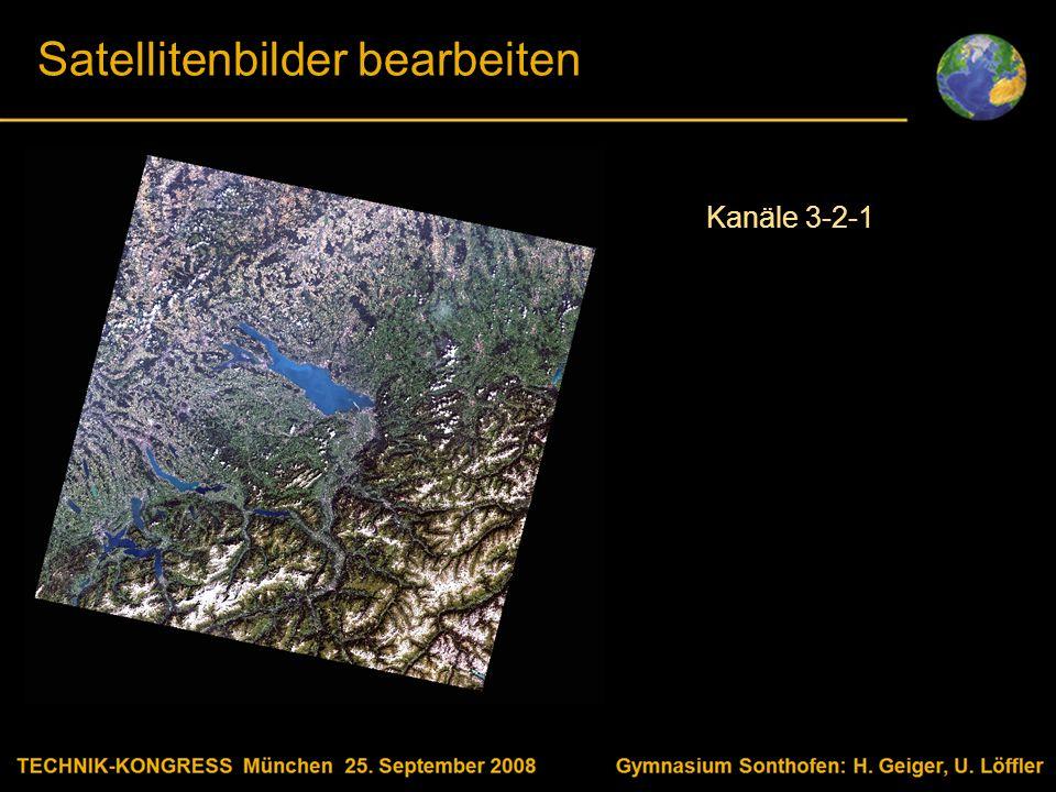 Body text Satellitenbilder bearbeiten Kanäle 3-2-1