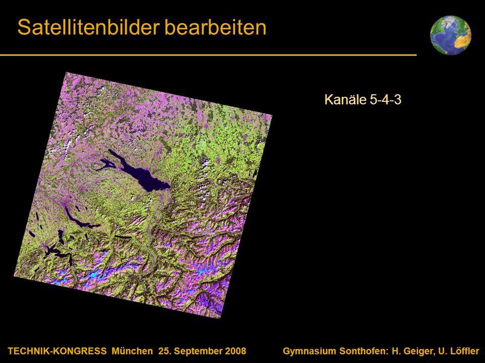 Body text Satellitenbilder bearbeiten Kanäle 5-4-3