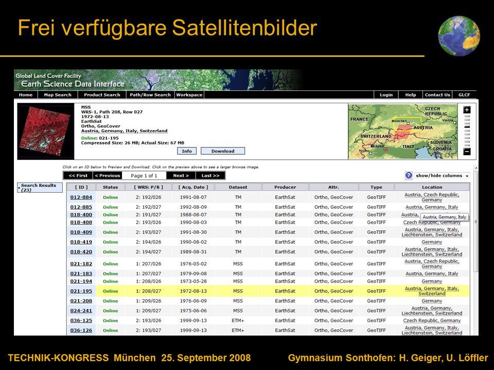 Body text Satellitenbilder bearbeiten Quellen: http://glcfapp.umiacs.umd.edu:8080/esdi/index.jsp ftp://edclxs25.cr.usgs.gov/UNEP/ernste/AtlasHighResSamples/ http://earthobservatory.nasa.gov/Newsroom/NewImages/images_index.php3 Vielen Dank für Ihre Aufmerksamkeit