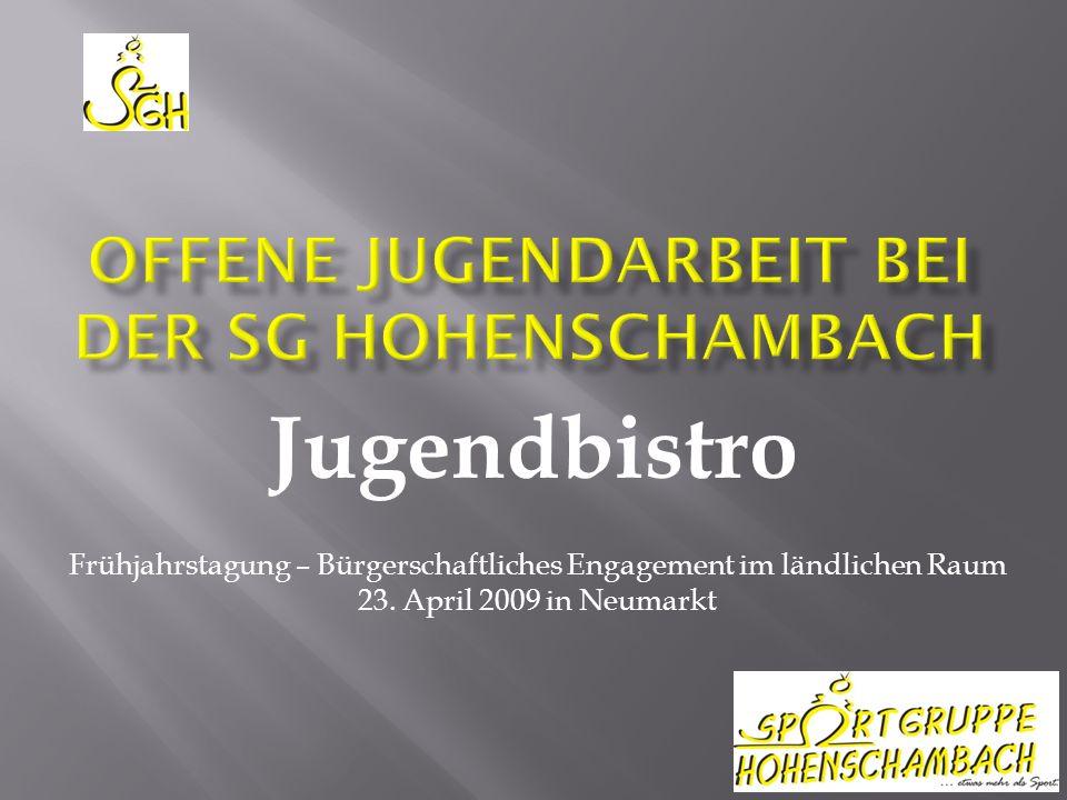 Jugendbistro Frühjahrstagung – Bürgerschaftliches Engagement im ländlichen Raum 23.