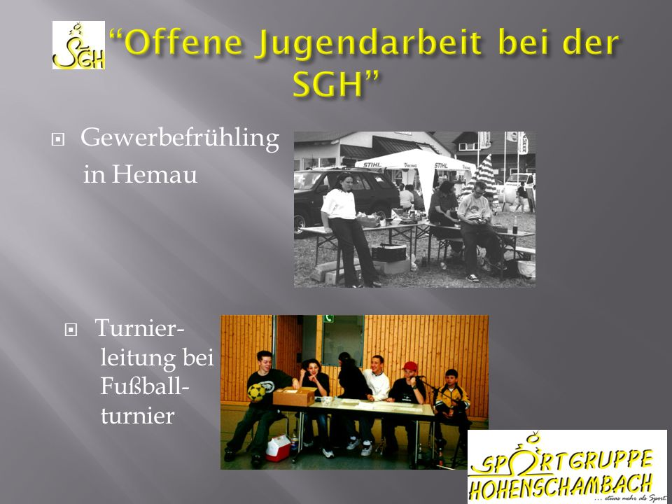 Gewerbefrühling in Hemau Turnier- leitung bei Fußball- turnier