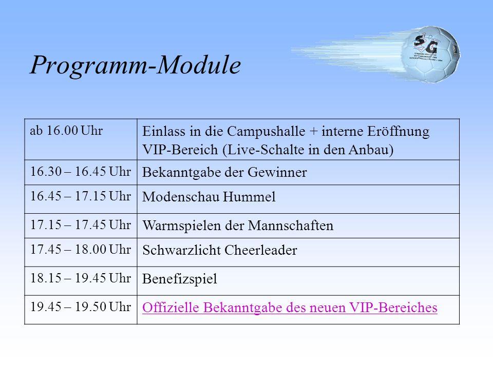 Programm-Module ab 6.00 Uhr Restaufbau der Veranstaltung (Hauptteil Freitag) 12.00-12.30 Uhr Offizielle Eröffnung des Tages mit Vorstellung des Progra