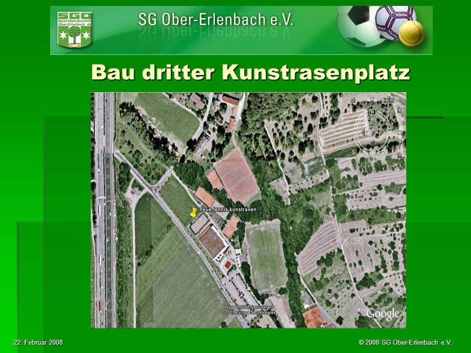 22. Februar 2008 © 2008 SG Ober-Erlenbach e.V. Bau dritter Kunstrasenplatz