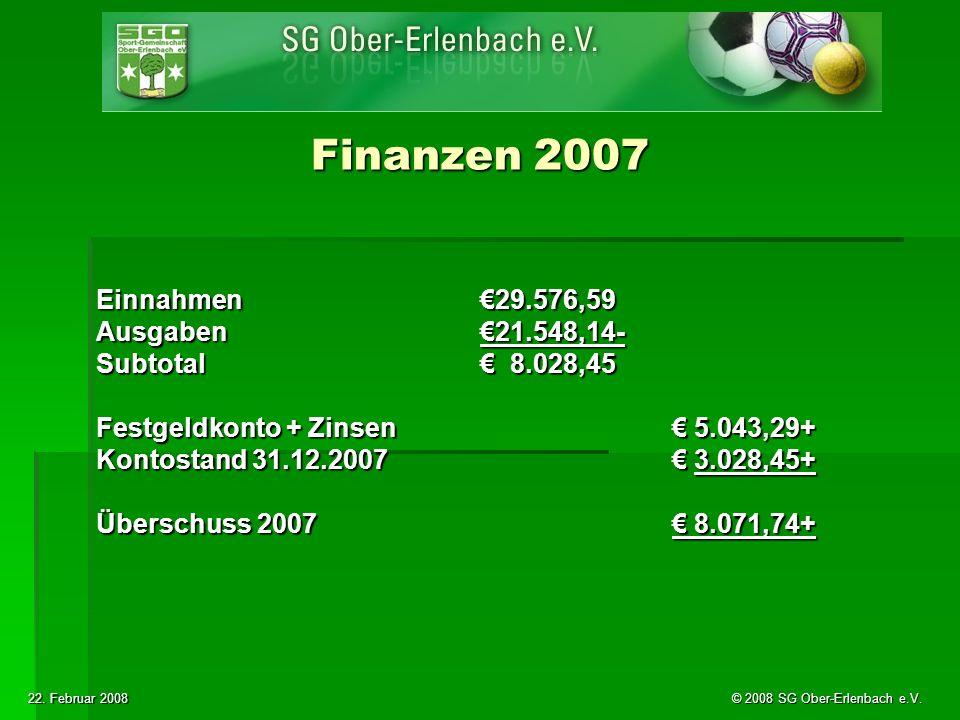 22. Februar 2008 © 2008 SG Ober-Erlenbach e.V.