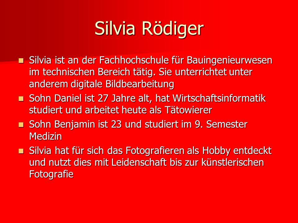 Silvia ist an der Fachhochschule für Bauingenieurwesen im technischen Bereich tätig. Sie unterrichtet unter anderem digitale Bildbearbeitung Silvia is