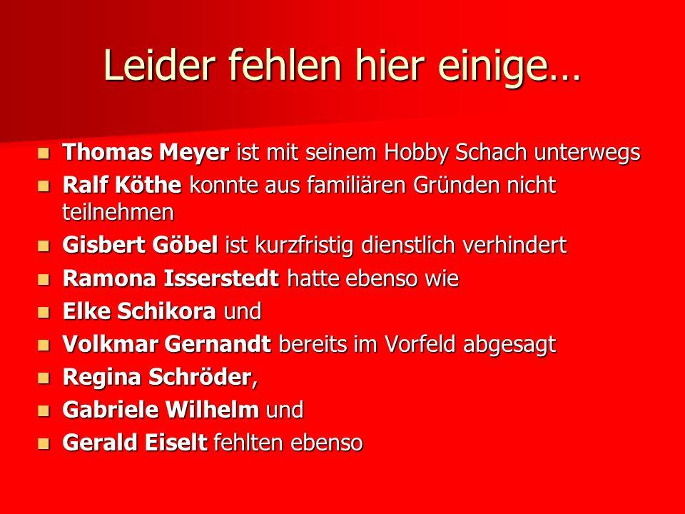 Leider fehlen hier einige… Thomas Meyer ist mit seinem Hobby Schach unterwegs Thomas Meyer ist mit seinem Hobby Schach unterwegs Ralf Köthe konnte aus
