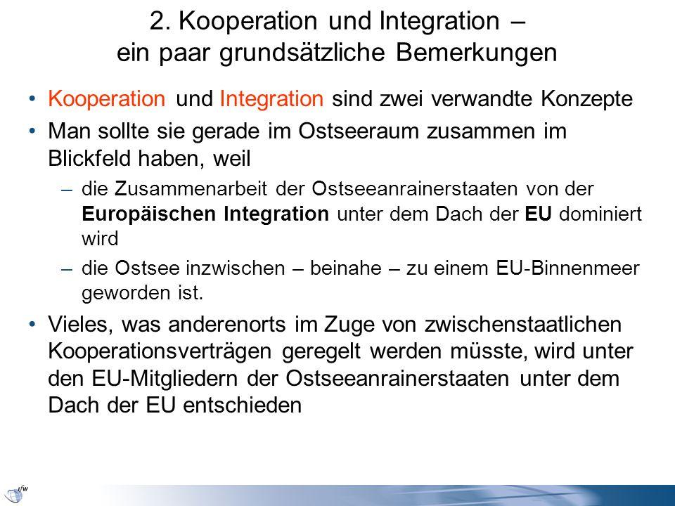 2. Kooperation und Integration – ein paar grundsätzliche Bemerkungen Kooperation und Integration sind zwei verwandte Konzepte Man sollte sie gerade im