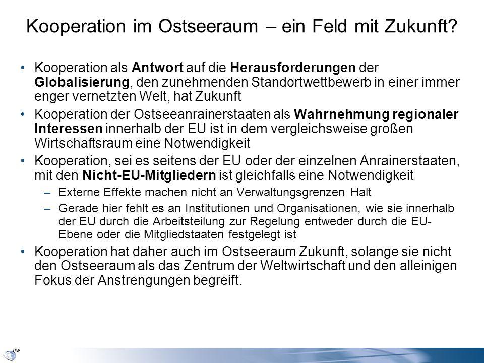 Kooperation im Ostseeraum – ein Feld mit Zukunft? Kooperation als Antwort auf die Herausforderungen der Globalisierung, den zunehmenden Standortwettbe