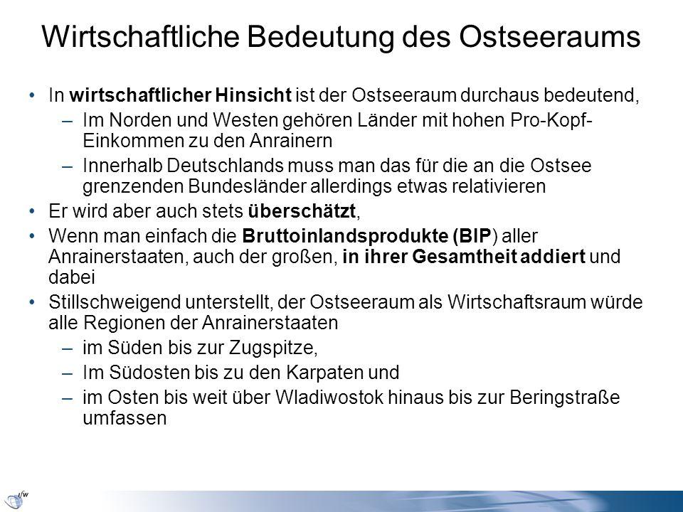 Der Ostseeraum im europäischen Kontext Quelle: EU-Kommission, Generaldirektion Erweiterung Unmittelbare Anrainerregionen in den größeren Anrainerstaaten Norwegen – auch noch ein Anrainer im Hinblick auf das Verkehrssystem Ostsee und Kooperation in Skandinavien