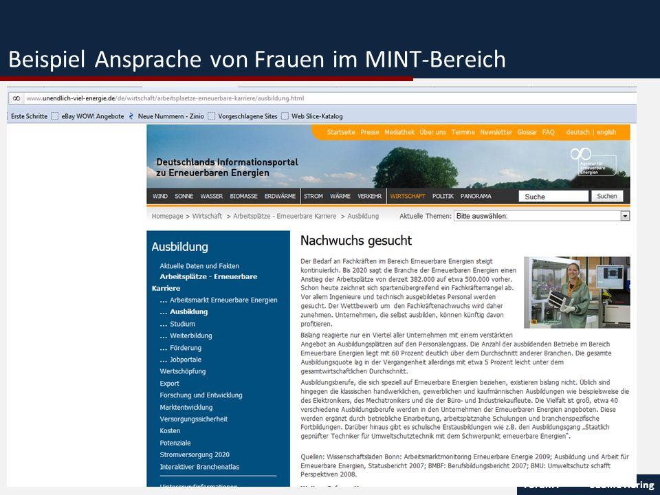 Forum I Sabine Hering 14 Beispiel Ansprache von Frauen im MINT-Bereich