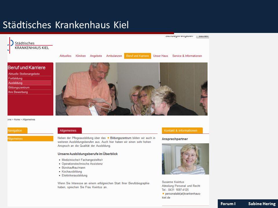 Forum I Sabine Hering Städtisches Krankenhaus Kiel