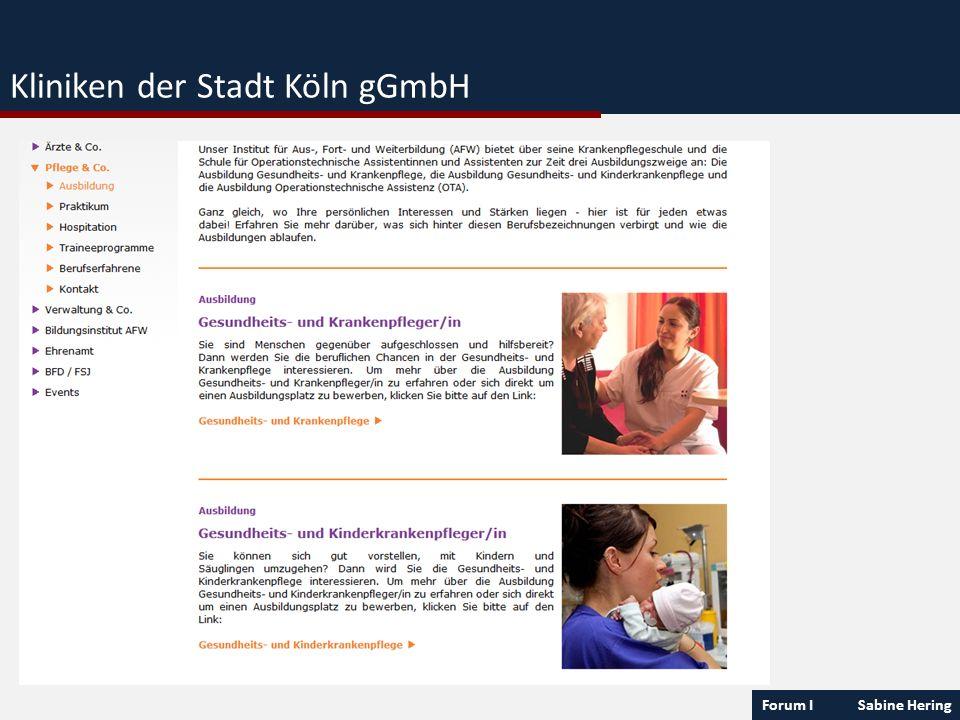 Forum I Sabine Hering Kliniken der Stadt Köln gGmbH