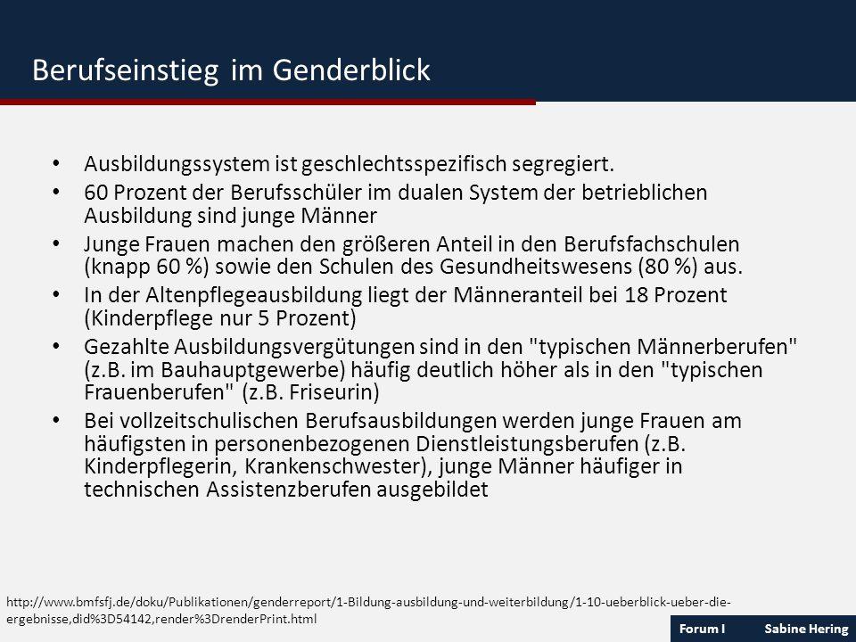 Forum I Sabine Hering http://www.bmfsfj.de/doku/Publikationen/genderreport/1-Bildung-ausbildung-und-weiterbildung/1-10-ueberblick-ueber-die- ergebniss