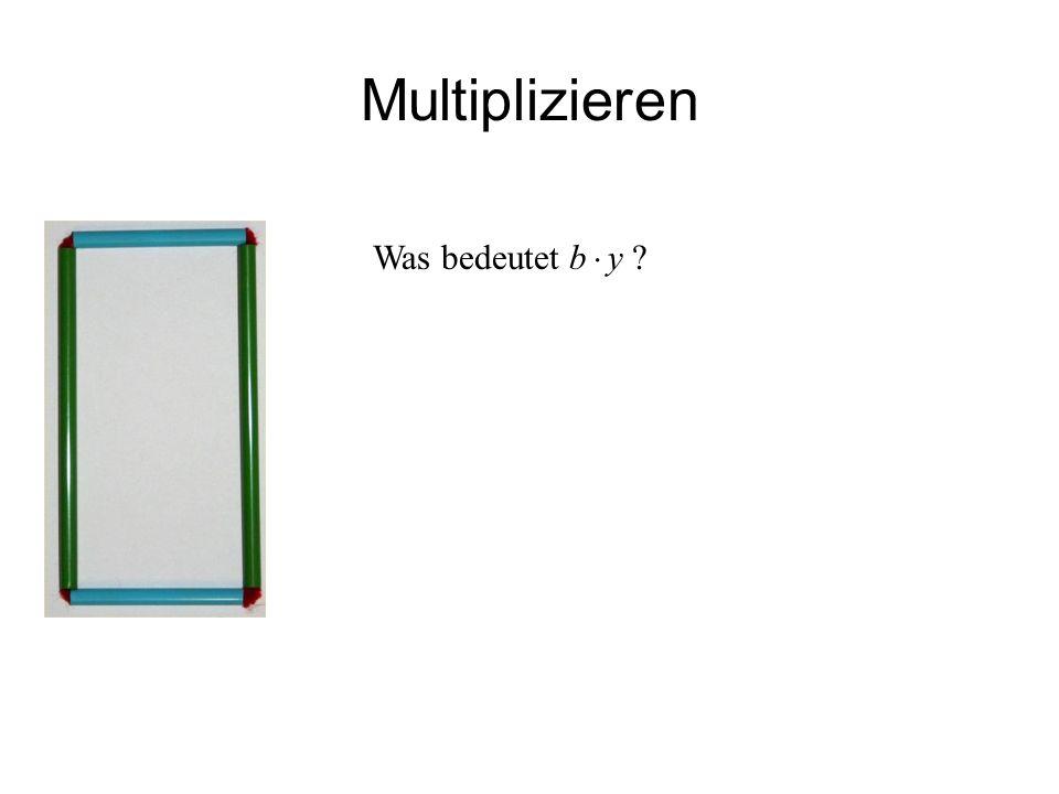 IQSH Multiplizieren b ist die Anzahl von Messquadraten in einer Reihe entlang des blauen Trinkhalms.