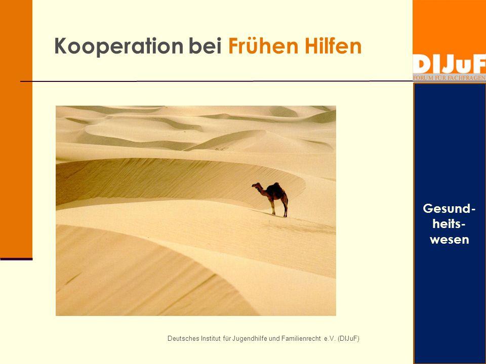 Deutsches Institut für Jugendhilfe und Familienrecht e.V. (DIJuF) Kooperation bei Frühen Hilfen Gesund- heits- wesen