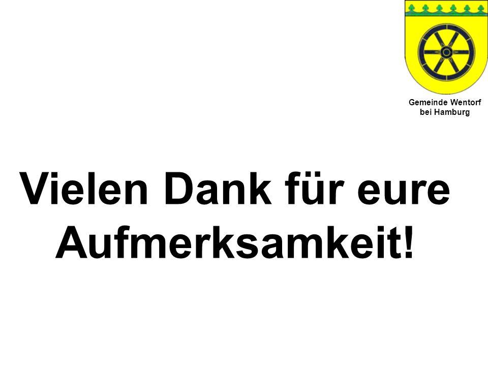 Gemeinde Wentorf bei Hamburg Vielen Dank für eure Aufmerksamkeit!