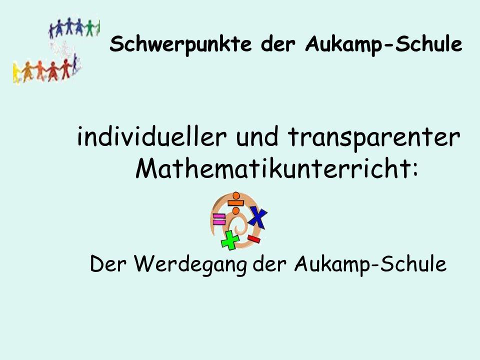 individueller und transparenter Mathematikunterricht: Der Werdegang der Aukamp-Schule Schwerpunkte der Aukamp-Schule