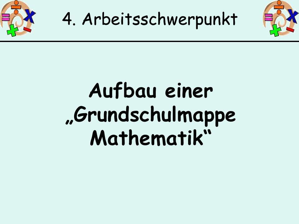 Aufbau einer Grundschulmappe Mathematik 4. Arbeitsschwerpunkt