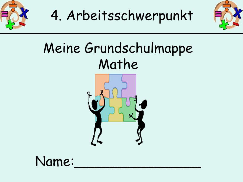 Meine Grundschulmappe Mathe Name:_______________