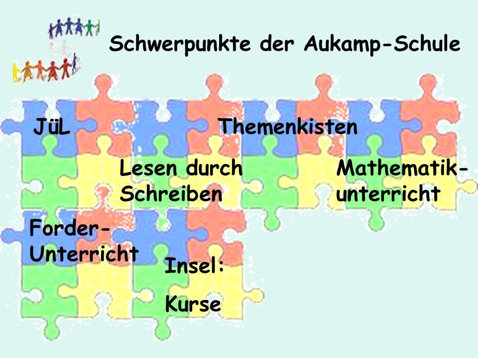 Mathematik- unterricht ThemenkistenJüL Lesen durch Schreiben Forder- Unterricht Insel: Kurse Schwerpunkte der Aukamp-Schule