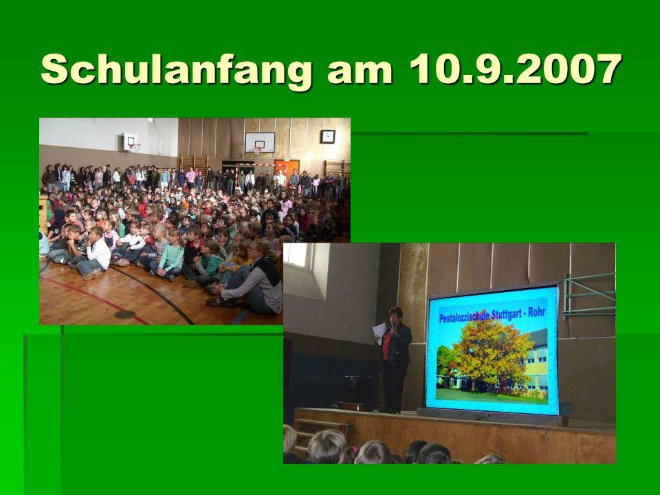 Schulanfang am 10.9.2007