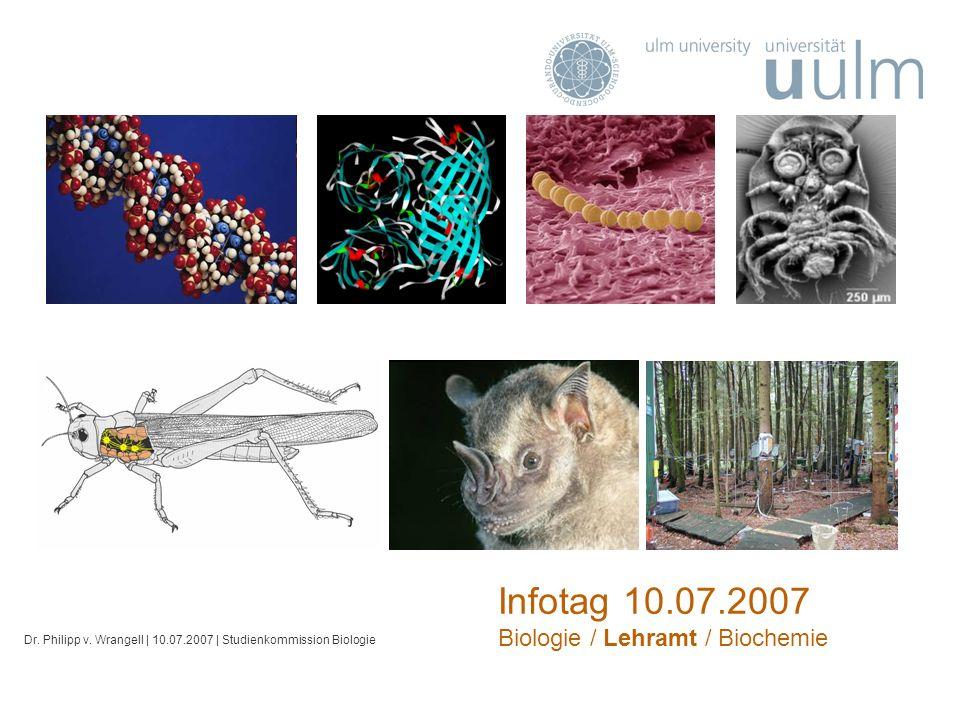 Infotag 10.07.2007 Biologie / Lehramt / Biochemie Dr.
