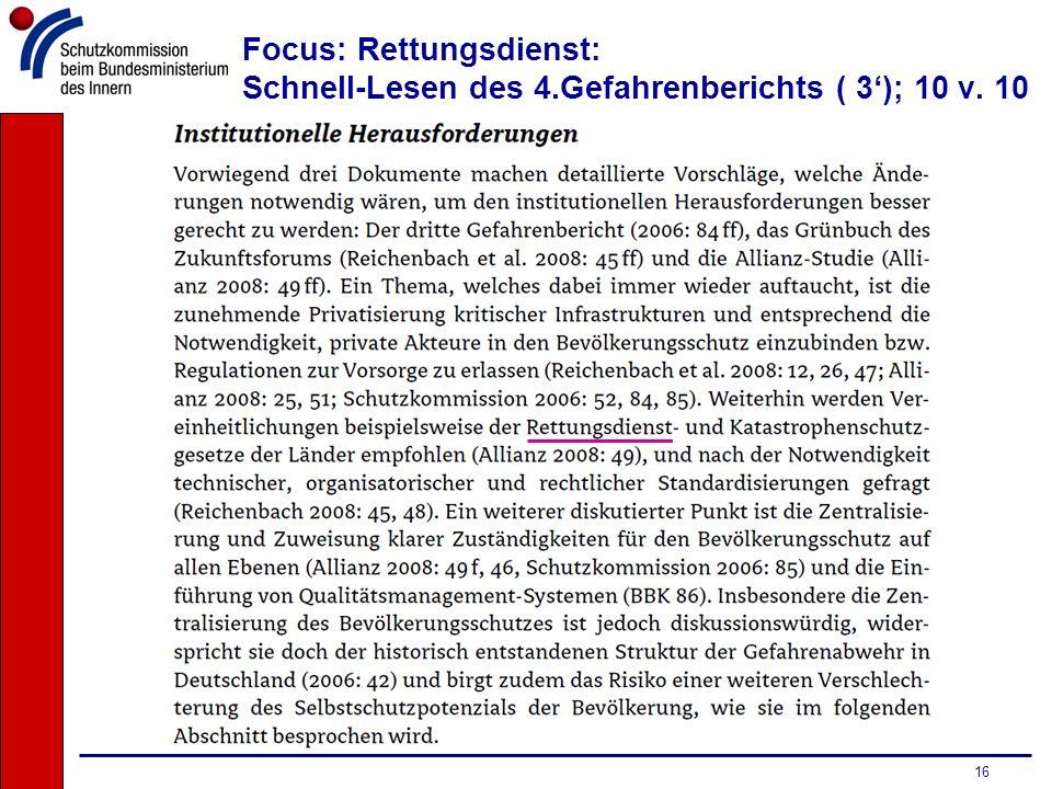 16 Focus: Rettungsdienst: Schnell-Lesen des 4.Gefahrenberichts ( 3); 10 v. 10