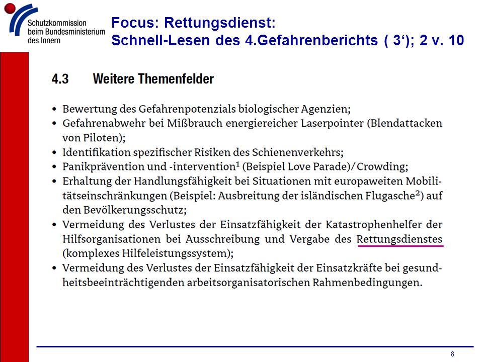 9 Focus: Rettungsdienst: Schnell-Lesen des 4.Gefahrenberichts ( 3); 3 v. 10
