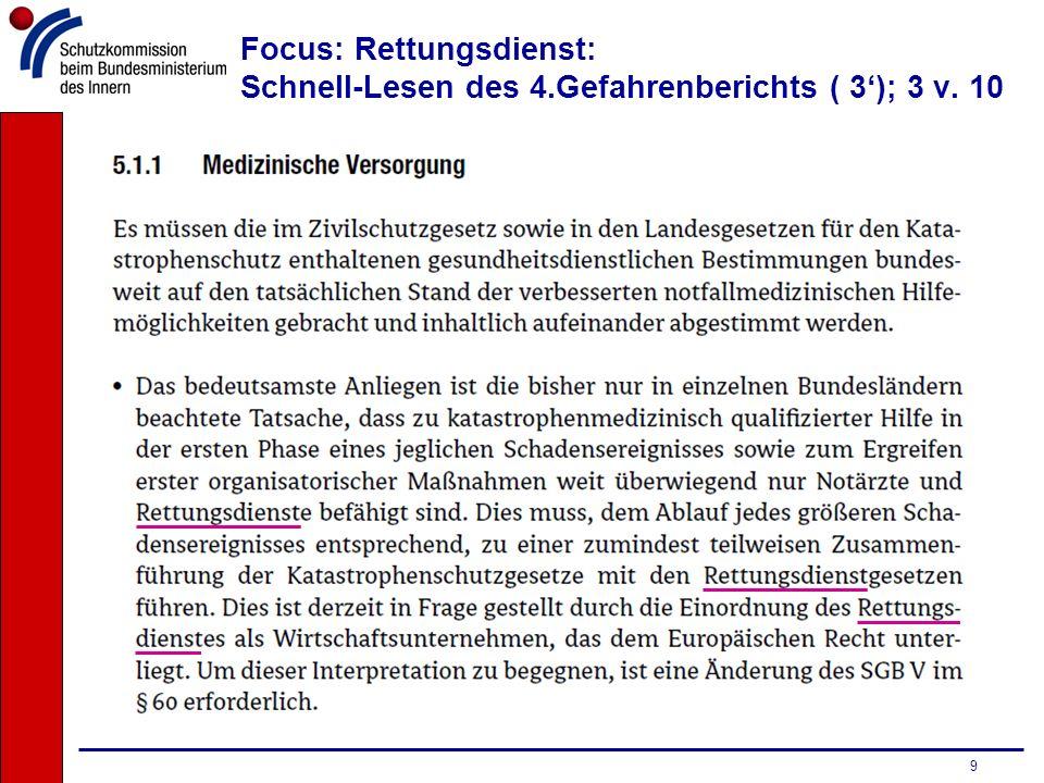 10 Focus: Rettungsdienst: Schnell-Lesen des 4.Gefahrenberichts ( 3); 4 v. 10