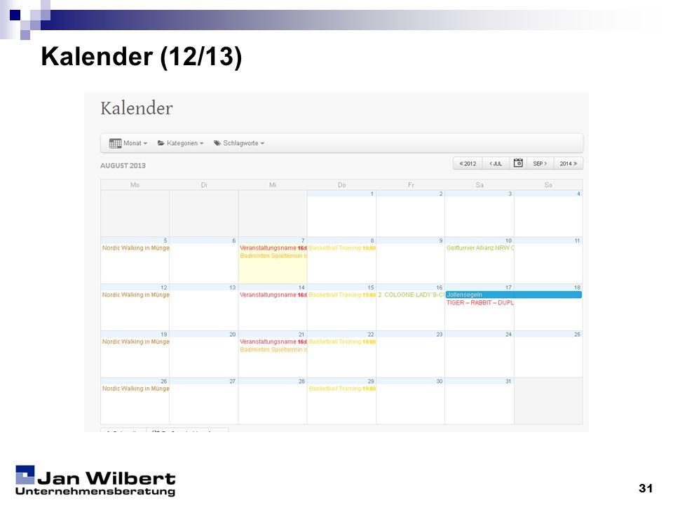 Kalender (12/13) 31