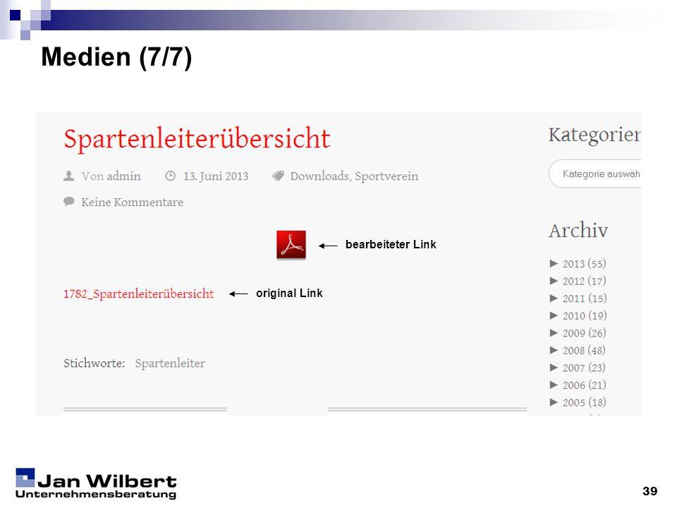 Medien (7/7) 39 original Link bearbeiteter Link